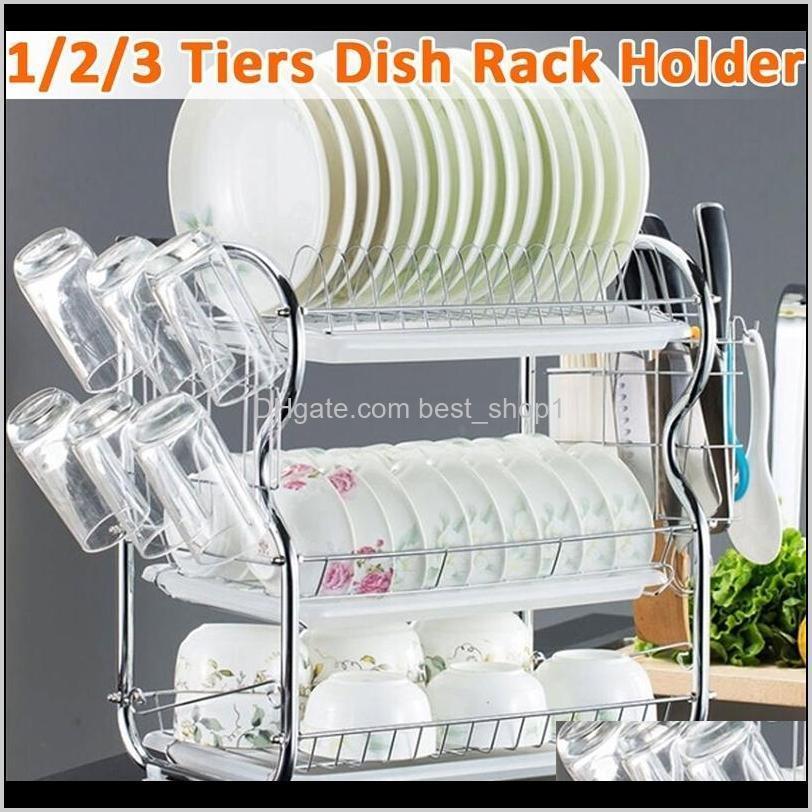 2-3 tiers dish drying rack kitchen washing holder basket plated iron kitchen knife sink dish drainer drying rack organizer shelf
