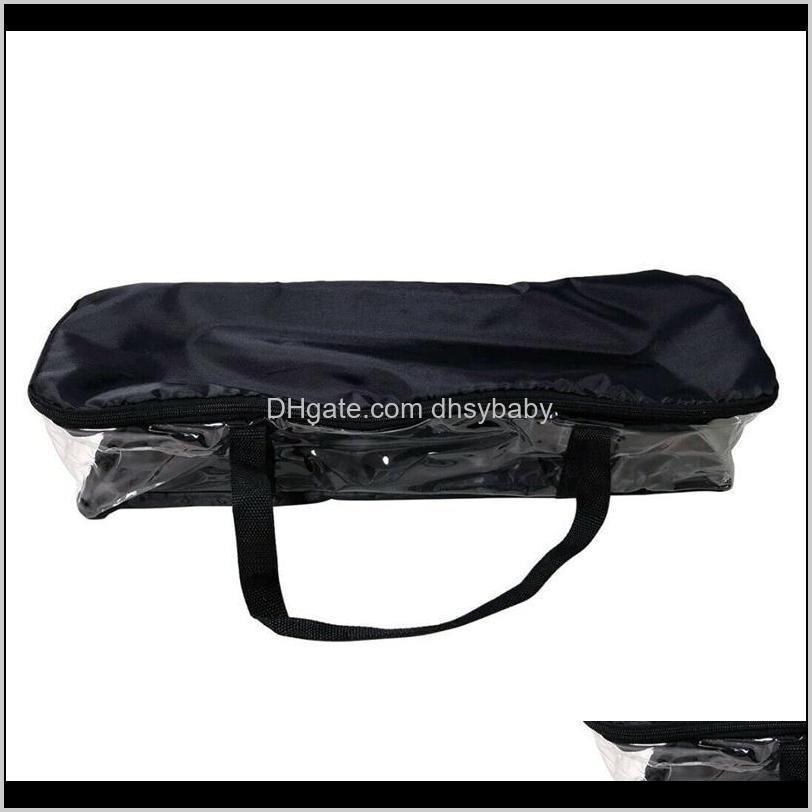 large clear holds dvd cd storage holder easy zip closure carry bag organizer