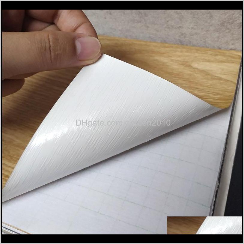 Practical Furniture DIY Decor PVC Self Adhesive Wood WallPaper Sticker Home Renovation Sticker Cabinet Table Waterproof Film
