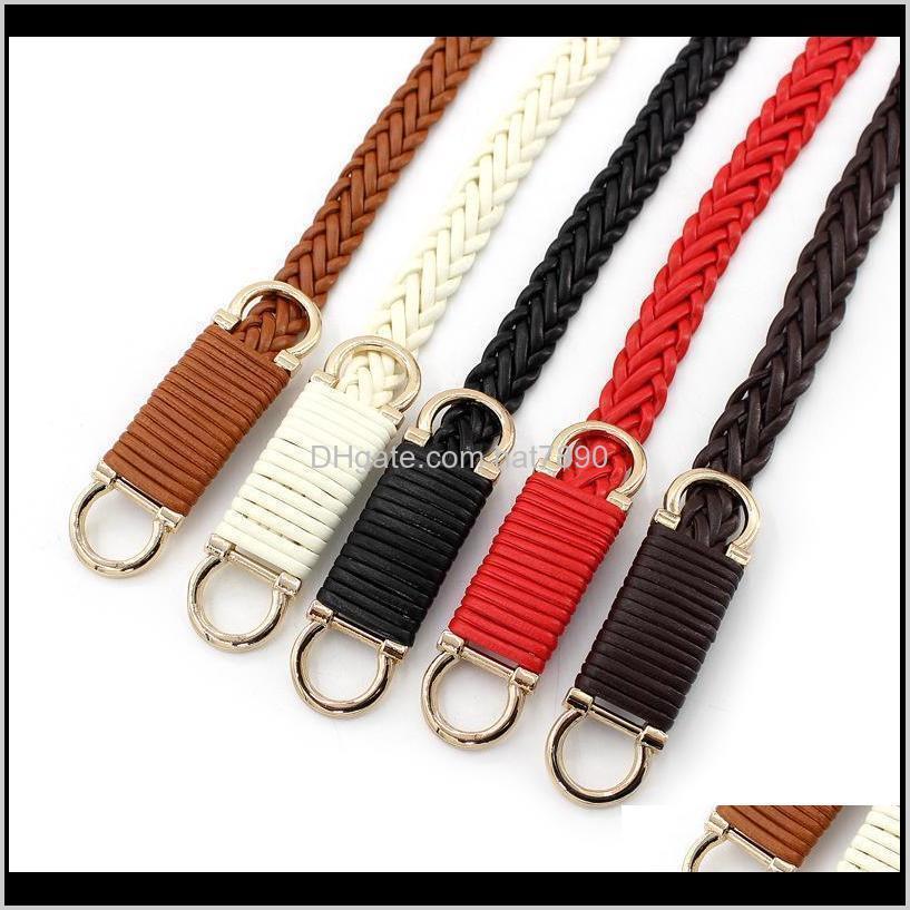 Belts Retro Dress Decoration Women Belt Girdle Weave Thin Waist Chain Elegant Lady Waistband Buckle Waist Belt High Quality