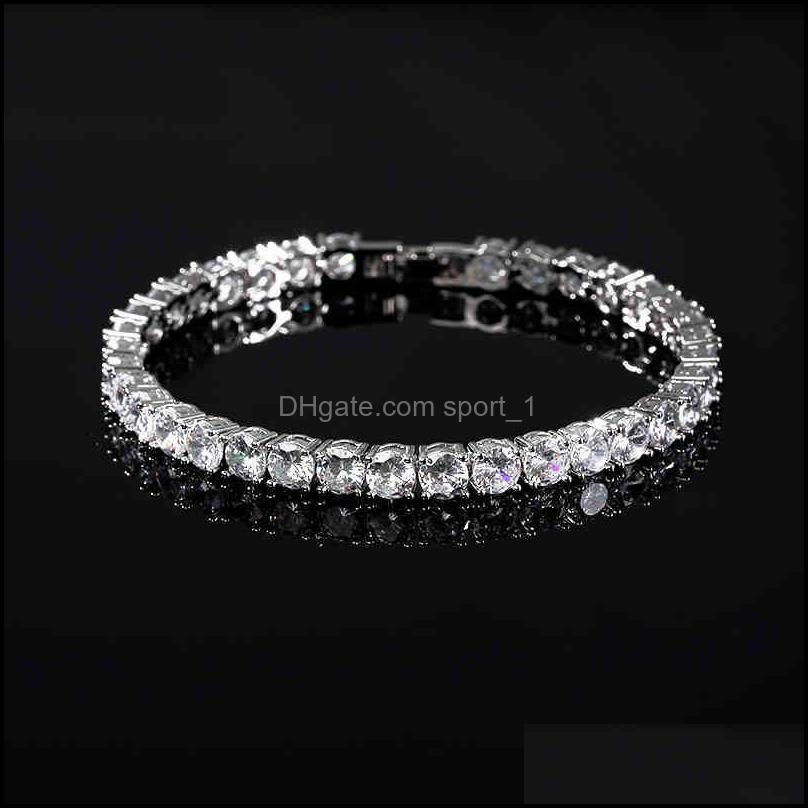CZ Tennis Bracelet for Women Men Exquisite Fashion Charm Braclet Chain Hip Hop Bracelets No Fade Jewelry