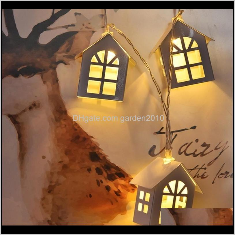 qyjsd new led wood house string light 3m garland house new years christmas tree wedding party fairy lights novelty decoration 201203