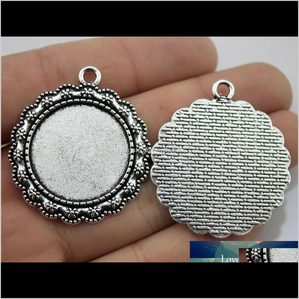 8 pieces cabochon cameo base tray bezel blank diy accessories for flower single side inner size 25mm round flatback resin cabochons