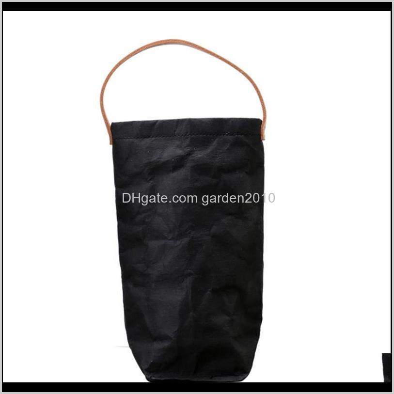 nordic style wine bottle bags washable kraft storage bags reusable washed kraft paper wine bags bottle carrier