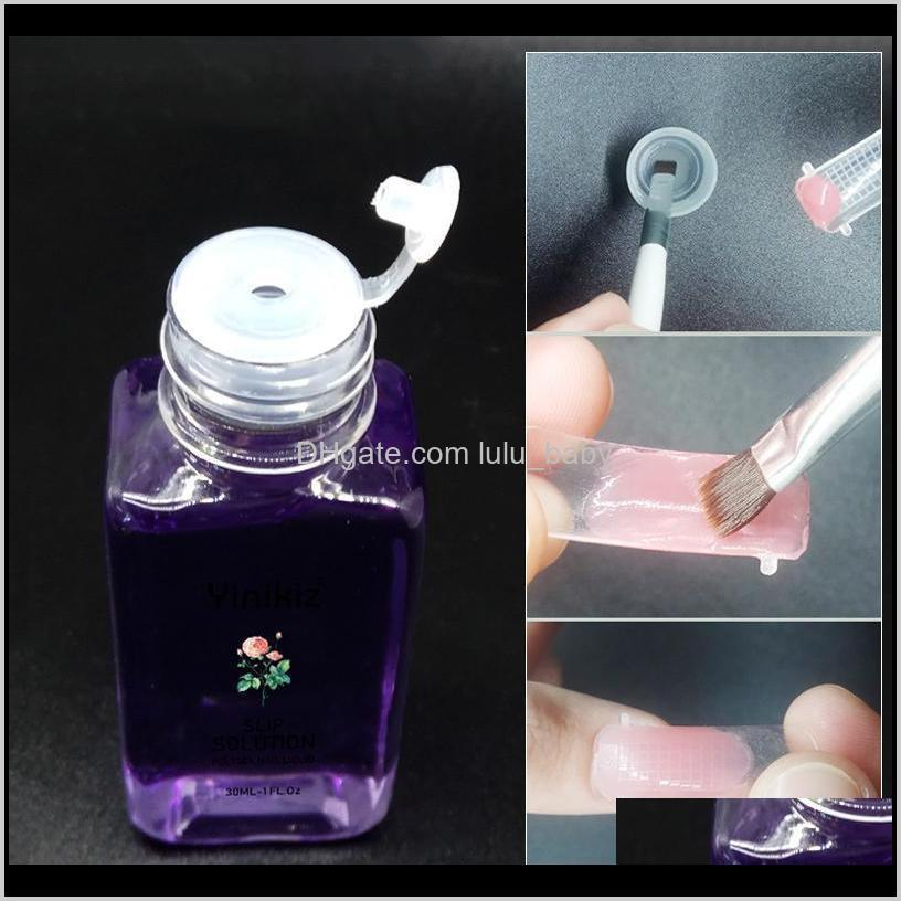 30ml liquid slip solution quick builder gel nails permanent clear acrylic nail art extension soak off manicure