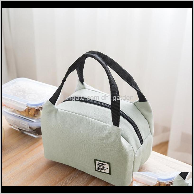 for women kids men insulated canvas box tote bag thermal cooler lunch bags waterproof handle carrying cases storage