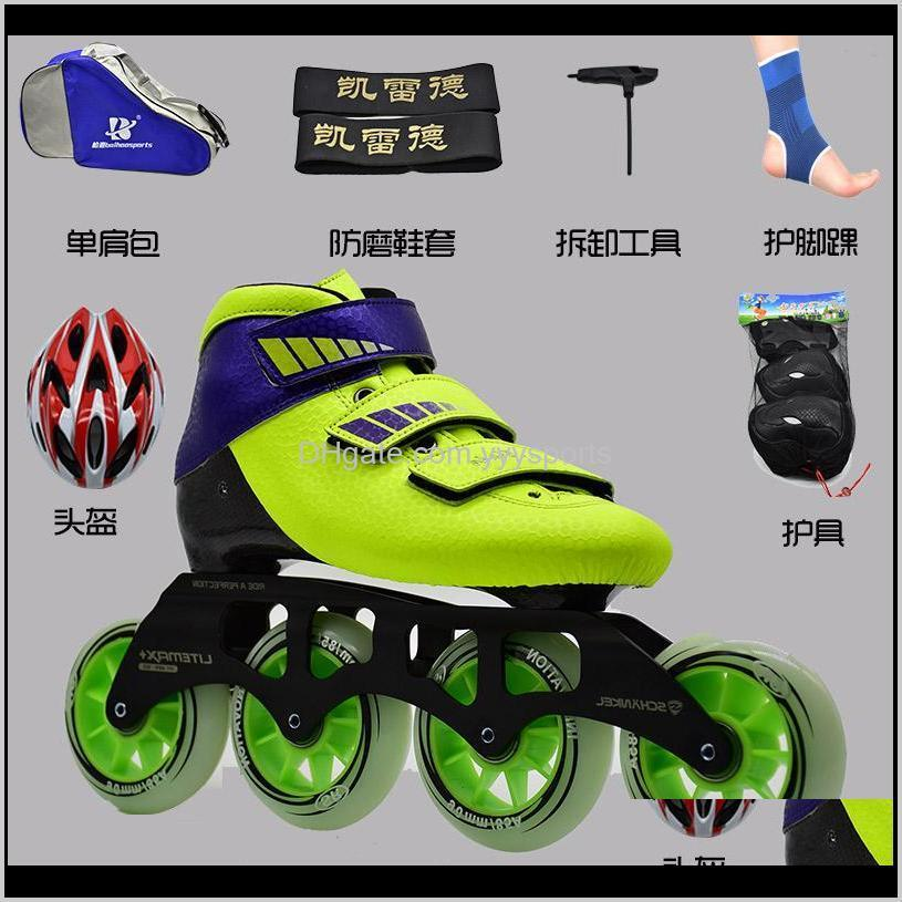 speed skating shoes adult male professional speed skating shoes racing children`s carbon fiber wheel