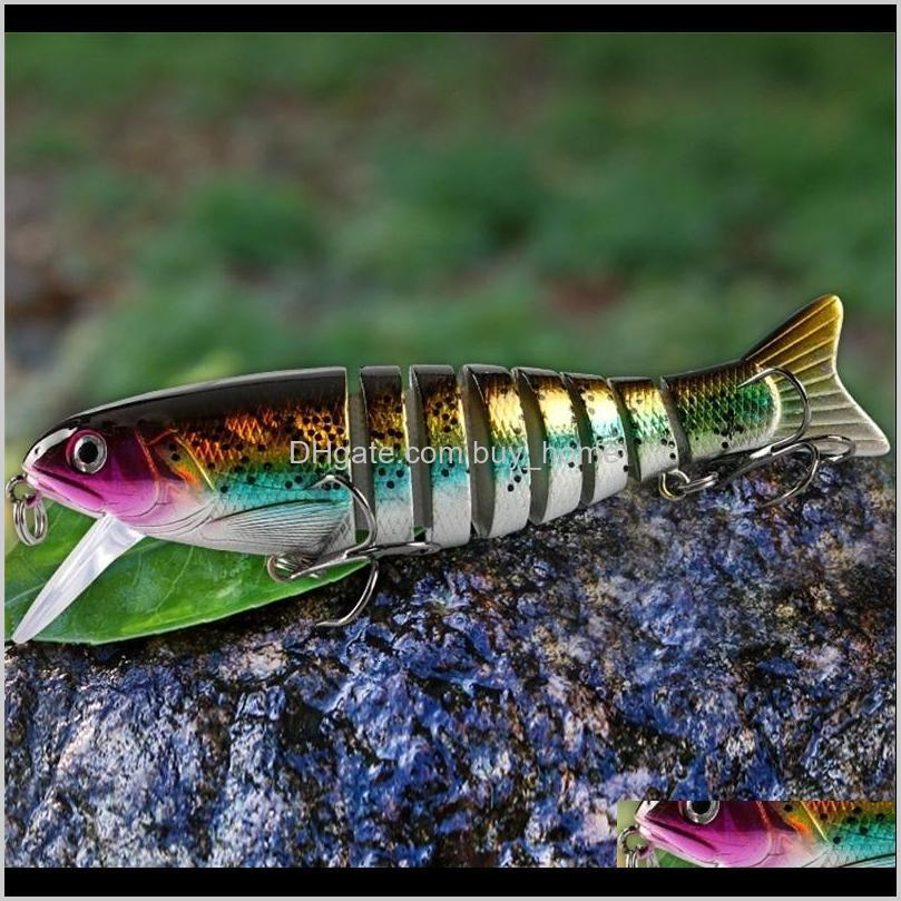 3d fishing lures 11cm 17g sinking wobblers 8 segments multi jointed swimbait hard bait fishing tackle for bass isca crankbait 577 z2