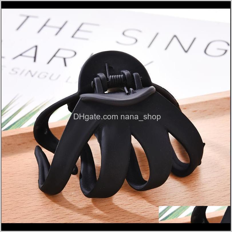 solid geometric hollowing large hair claw crab clamp hair clip accessories para el cabello