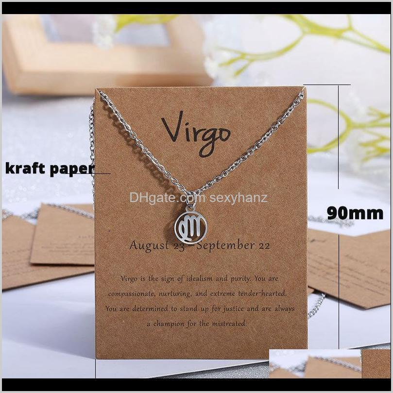 wholesale kraft paper 12zodiac signs necklace&earring general cards paper jewelry paper paperboard packaging display card hang tags