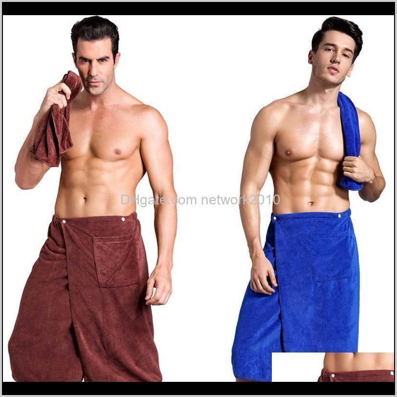 luxury men spa bath shower wrap towel wearable bath skirt microfiber blanket swimming beach towel travel sports gym towel set for man