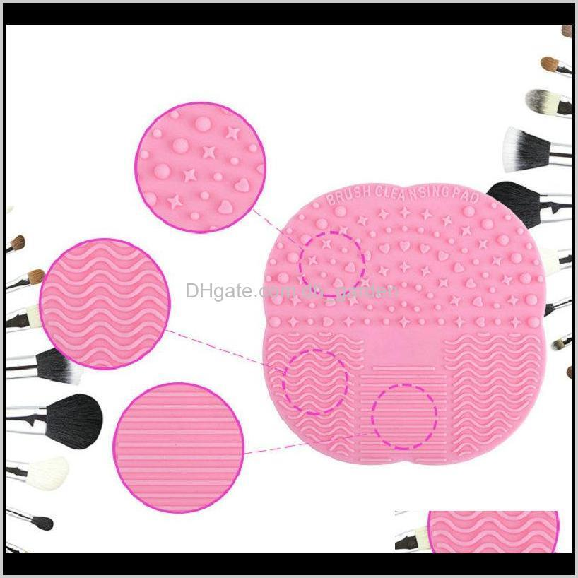 2018 newest silicone brush cleaner cosmetic make up washing brush gel cleaner mat foundation makeup brush cleaner tool pad washing
