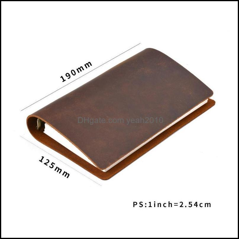 Notepads Classic Business Notebook Personal Genuine Leather Cover Loose Leaf Diary Travel Journal Sketchbook Planner