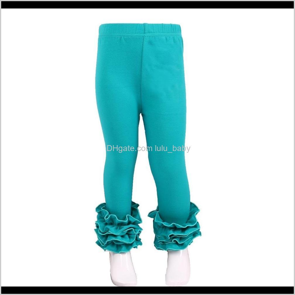 mudbala boutique baby girls solid cotton triple ruffle icing leggings children wear ruffled pants for toddler girls y200704