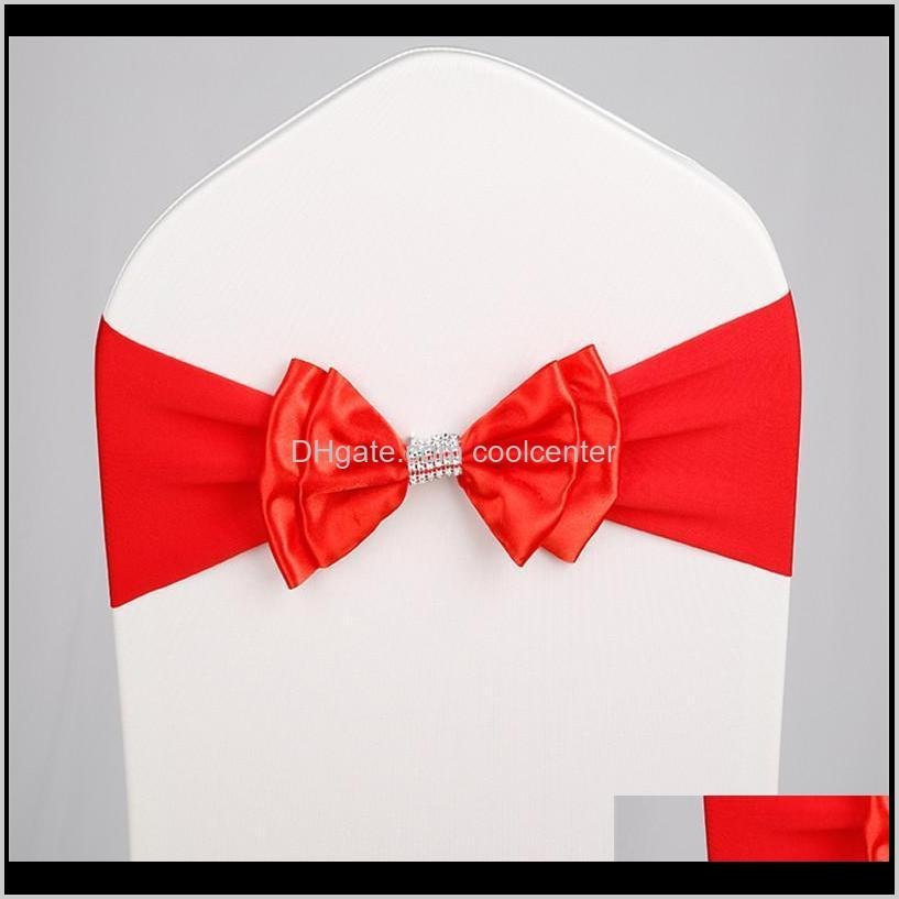 marious 50 pcs/lot wedding chair sash tie bow decoration for party supplier sashes