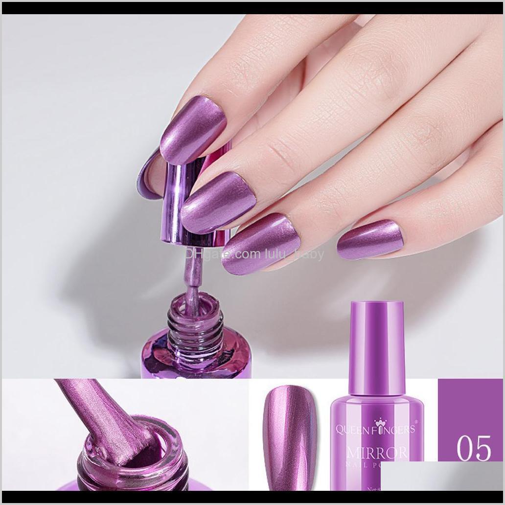 2019 new 4 pcs plating metallic nail polish set magic semi-mirror effect nail lacquer mirror polish detachable non-peelable