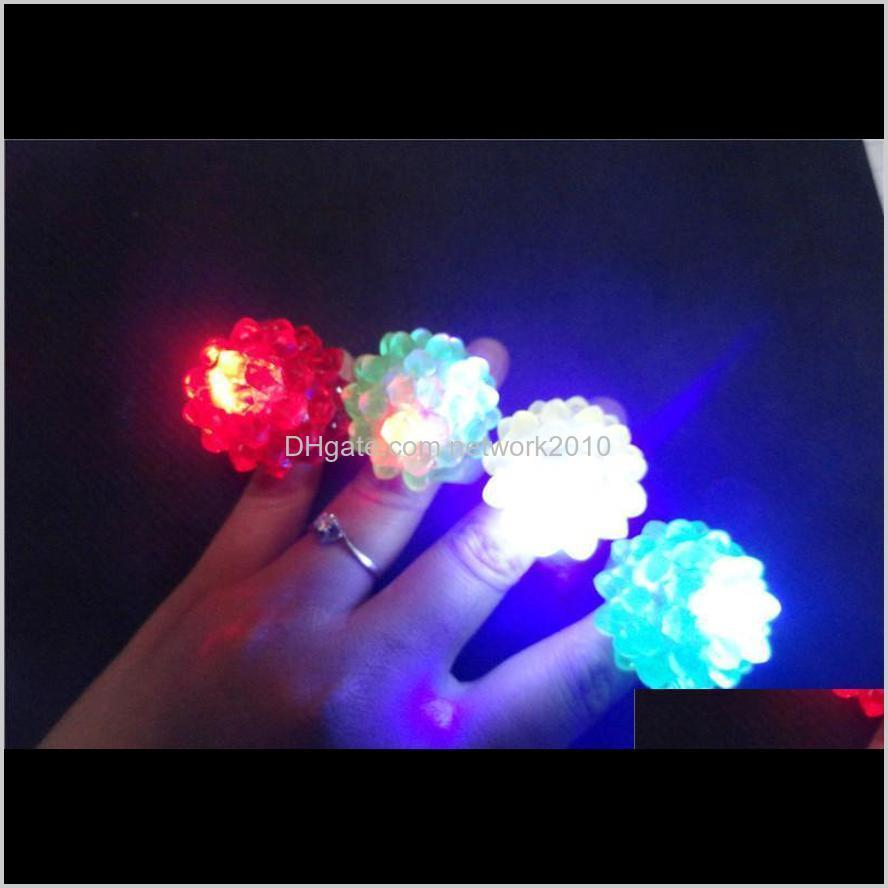 new arrival led ring light ring flash light led mitts cool led light up flashing bubble ring rave party blinking soft jelly glow party