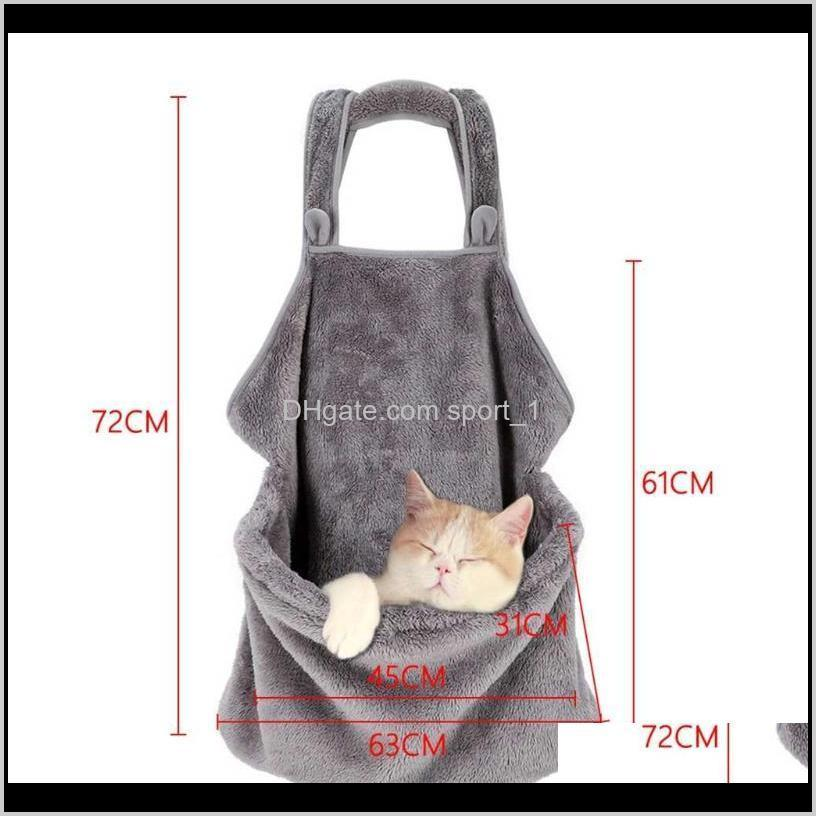 pet dog carrying backpack travel shoulder bags plush carrier front chest holder for puppy chihuahua pet dogs cat accessories