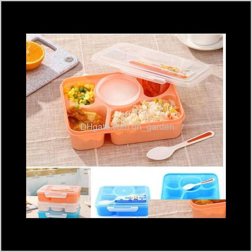 2019 wholesales hot sales microwave lunch box picnic food fruit container storage box for kids adult kitchen storage storage tray
