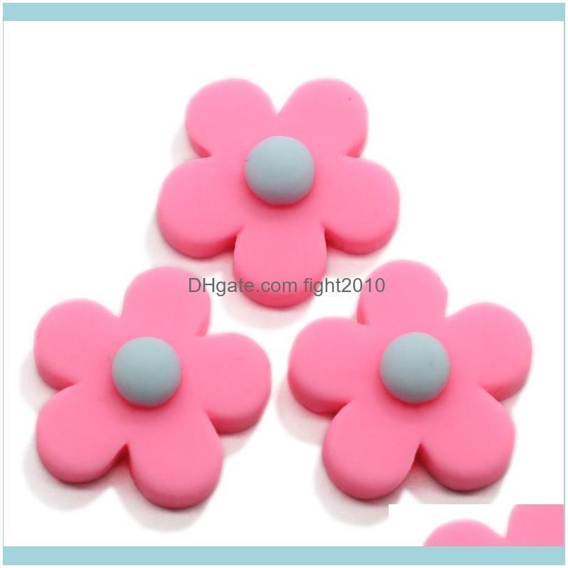 20/100pcs Daisy Flower Flatback Resin Cabochons Scrapbook Craft 7*18MM DIY Embellishments Phone Decor Headwear Accessories