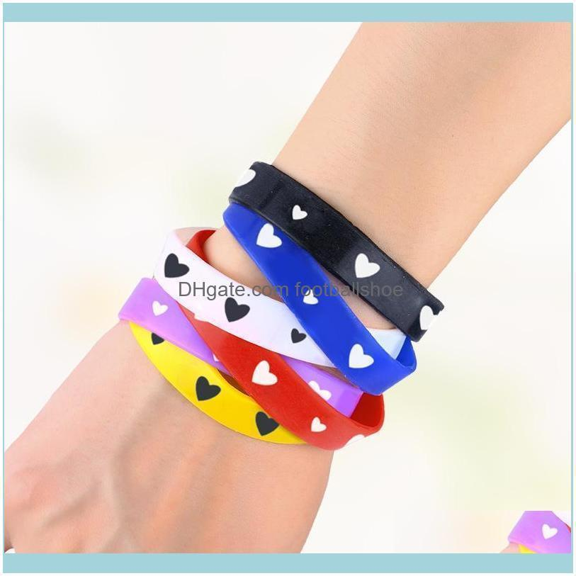 Designers Taobao gift sports silicone fashion candy color love bracelet