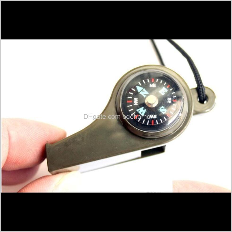 three-in-one whistle survival whistling with compass thermometer outdoor multi-function camping tools