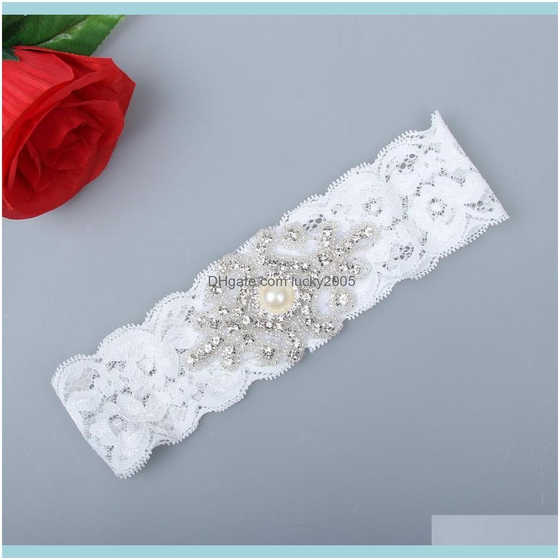 white sexy lace rhinestones pearls vintage wedding garter set luxury with bridal leg garter belt beads bride accessories plus size