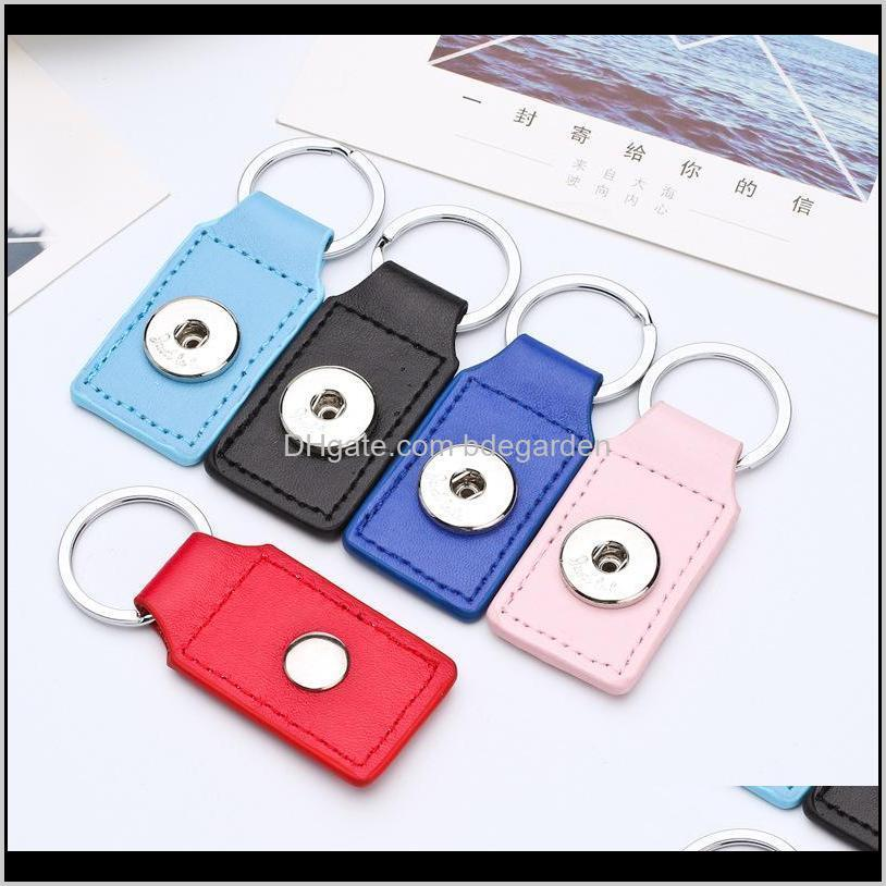 noosa interchangeable ginger snap buttons key chain & key rings snaps jewelry noosa square leather keychain fashion keychainps2206