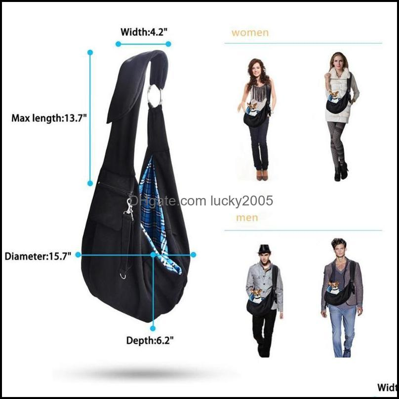 Dog Carrier Bags Pet Outdoor Sling Bag Reversible Hand-Free Travel For Small Medium With Adjustable Safety Strap Car Seat Covers