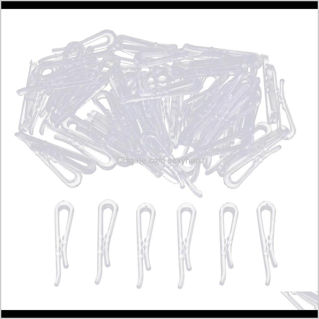 200pcs plastic clear sewing clips for shirt collar craft trouser peg clips