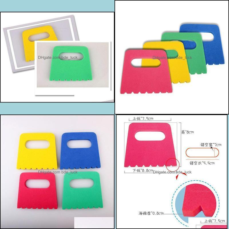 Kids Plastic Scraper Colorful Pigment Modeling Accessories EVA Pigment Scraper Art Supplies Children Drawing Toys Set of 4