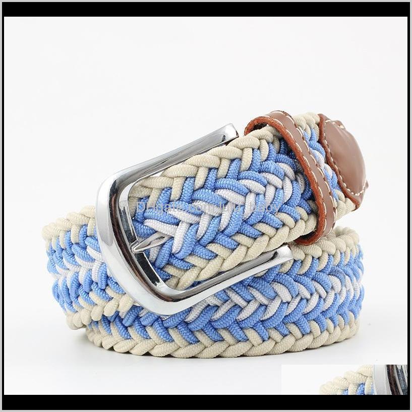 hot men`s women`s wovon belt metal nuddle buckle elastic canvas belt s546
