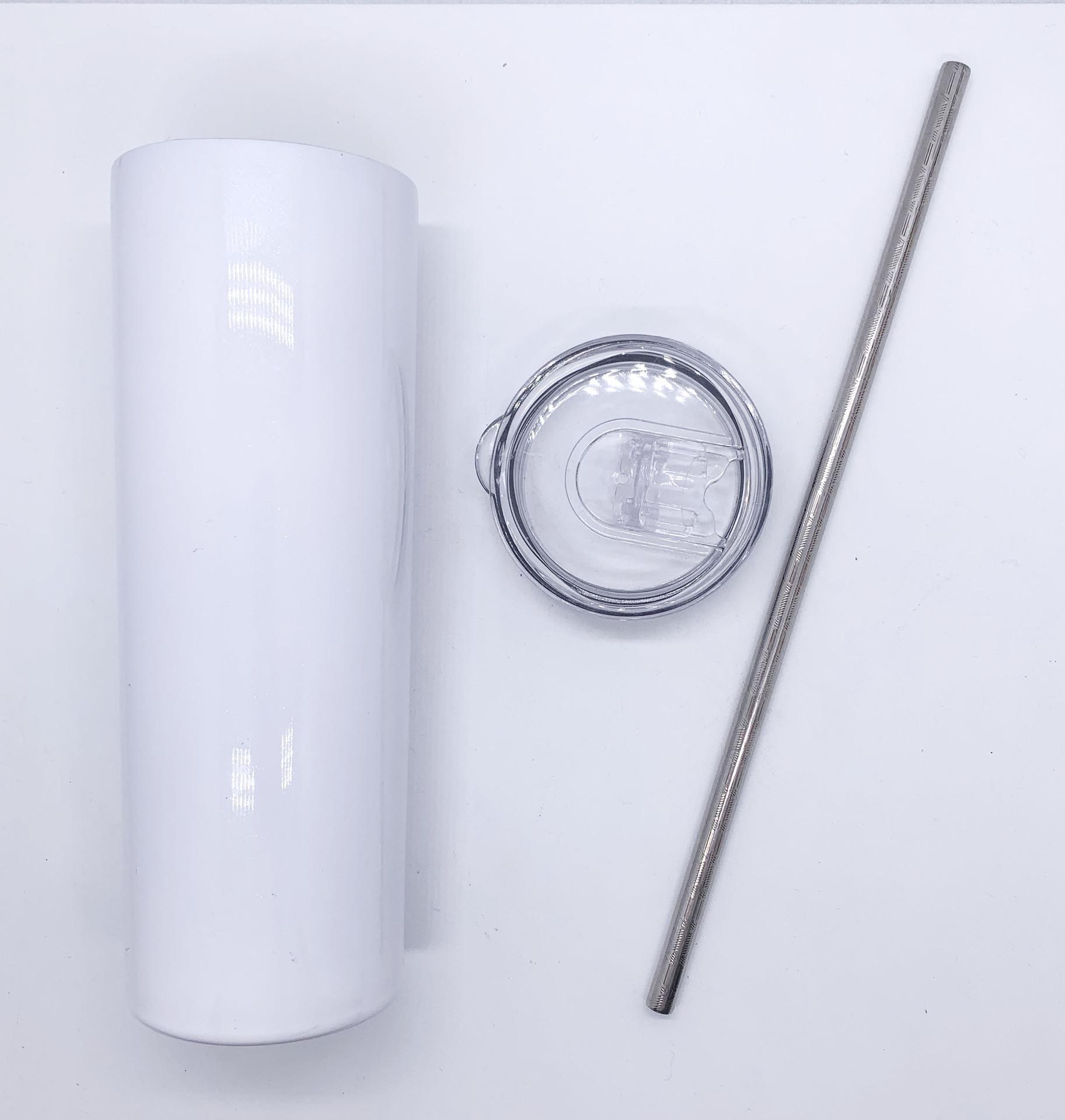 Tasses droites Skinny de sublimation de 20oz avec des gobelets en acier inoxydable de paille en acier inoxydable boire de boissons doubles gobelets isolés DHL expédition FY4275