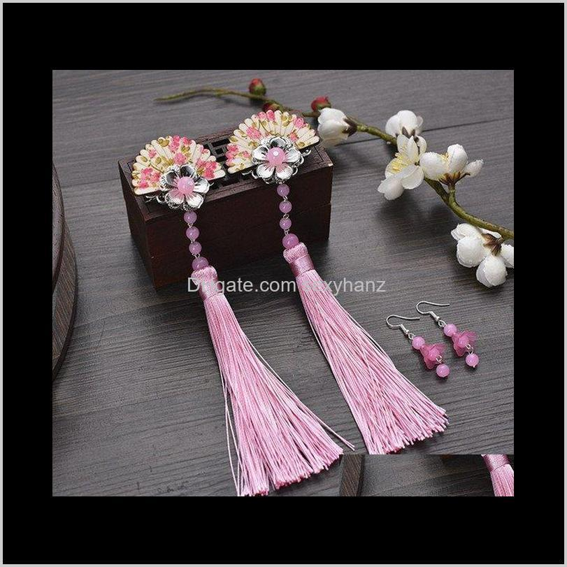 vintage hair flower for women chinese ancient dynasty hair accessories ancient clip princess cosplay wygc#