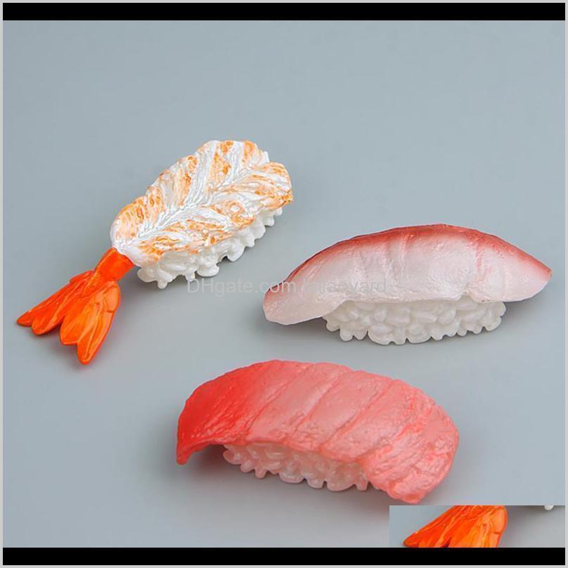 set of three fridge magnet japan salmon sushi food model kitchen decoration magnetic sticker creative paste stereo art gift wmtgej