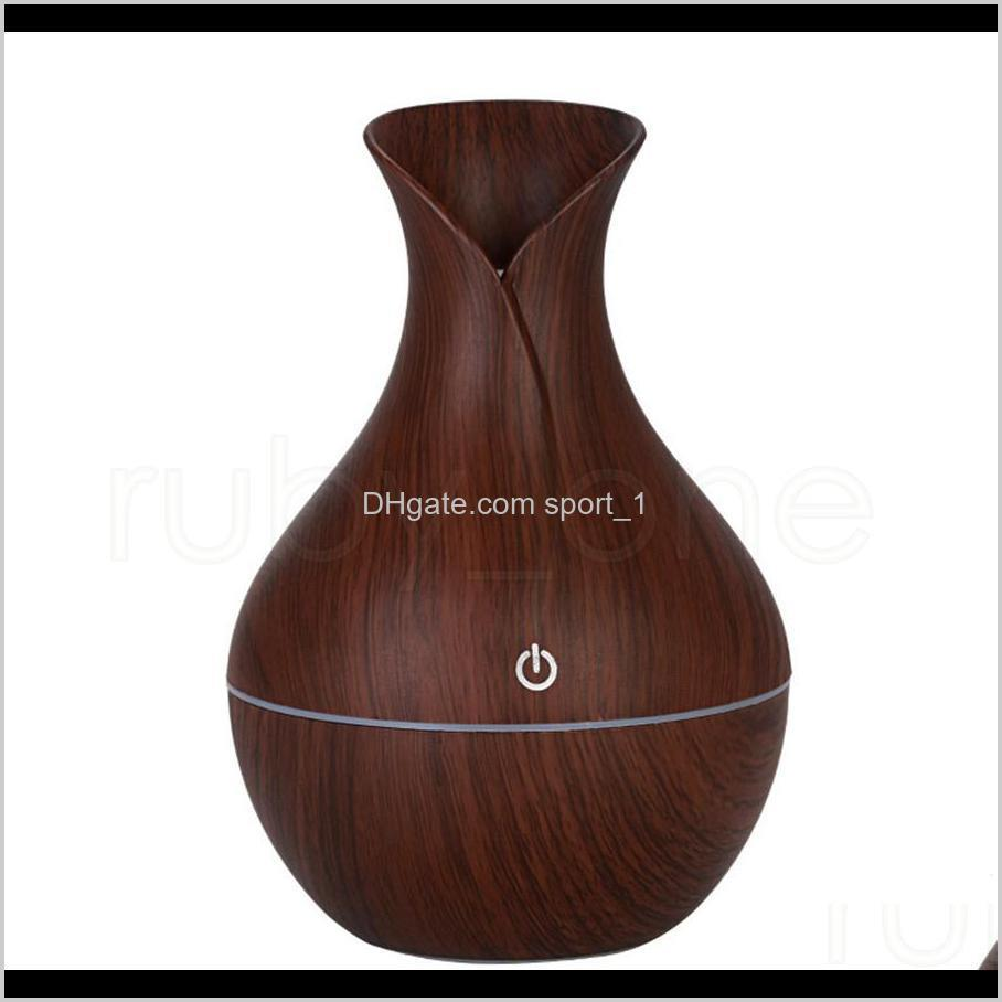 wood grain essential humidifier aroma oil diffuser ultrasonic wood air humidifier usb mini mist maker led lights for home office tool