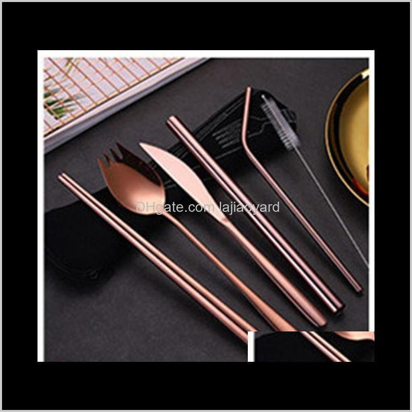 reusable metal drinking straw stainless steel and table cutlery sturdy bent straight drinks straws with cleaner brush bar wmtqwd