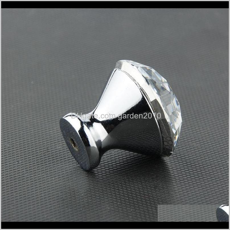 cabinet handle pulls crystal drawer knobs handle door wardrobe dresser 30mm