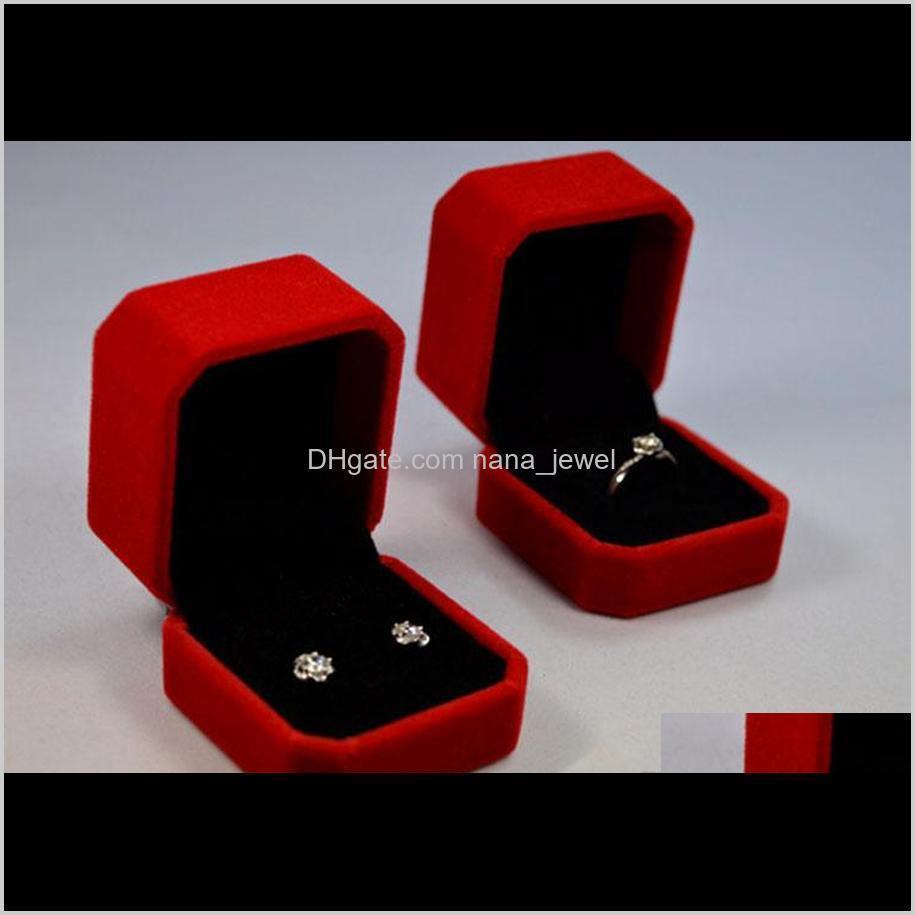 velvet jewelry boxes 5*5.5*4cm ring earrings box packing cajas de regalo gift boxes caixas para presente wholesale ship0016pack