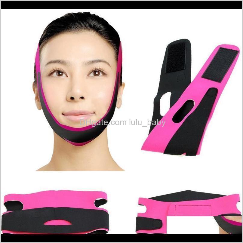 face slim v-line lift up belt women slimming chin cheek slim lift up mask v face line belt anti wrinkle strap band facial beauty
