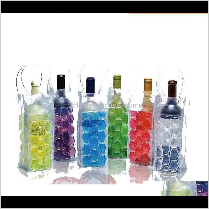 ice wine cooler bags pvc beverages beer cooler bag portable double side ice wine cooler holder carrier travel f wmtbbm