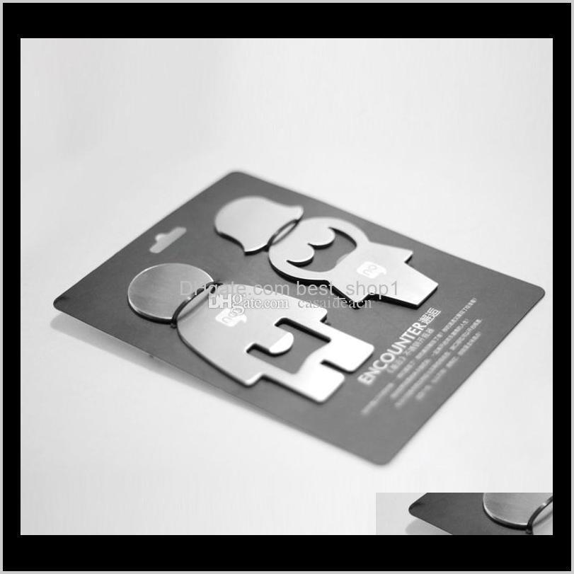 creative girl & boy shaped stainless steel bottle opener - silver (2 pcs) lovers encounter male female design beer bottle opener