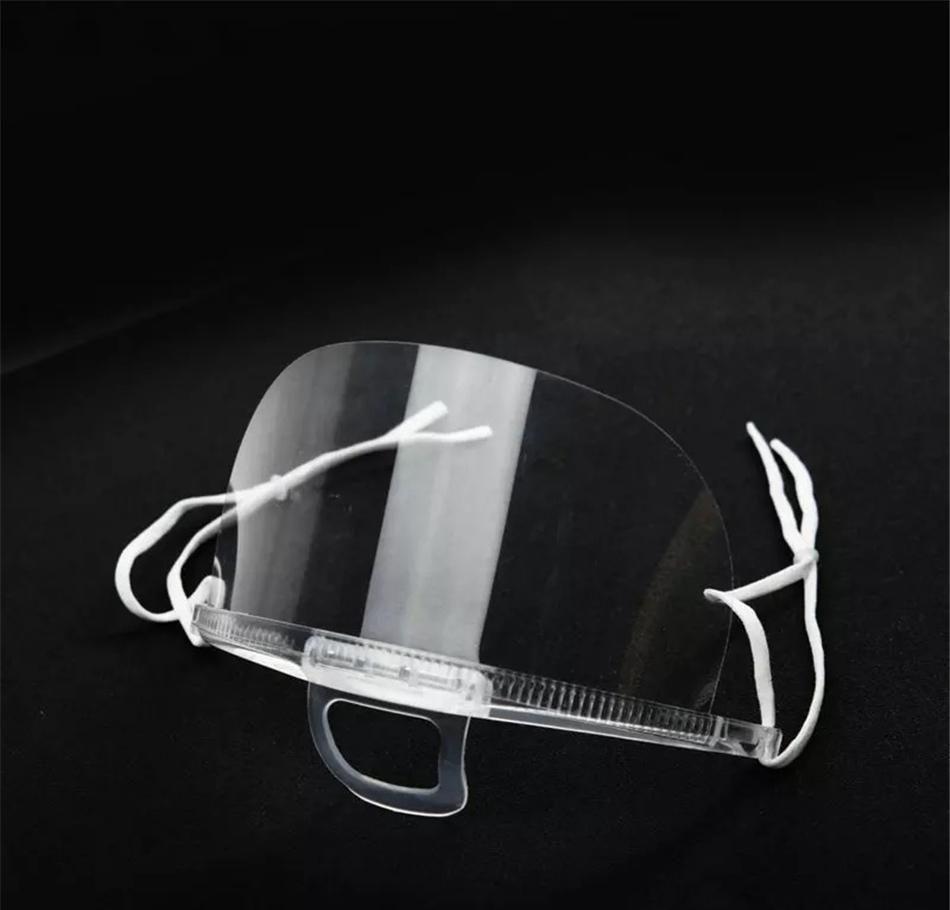 shiping 100pcs health care tool transparent masks permanent anti fog catering food hotel plastic kitchen restaurant masks