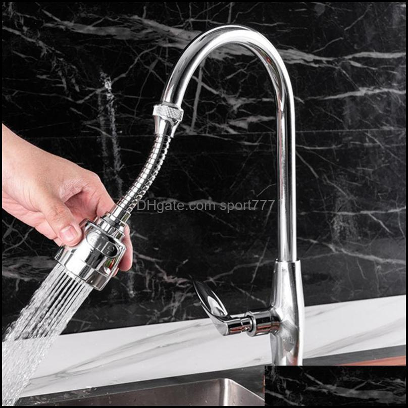 Kitchen Faucets 2pcs Splashproof Nozzle Rotatable Sprayer Rotating Tap Filter