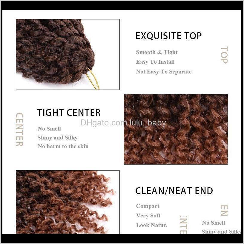 3pcs/pack crochet braids kinky twist 8 inches curly crochet hair crochet braids hair ombre synthetic hair extensions