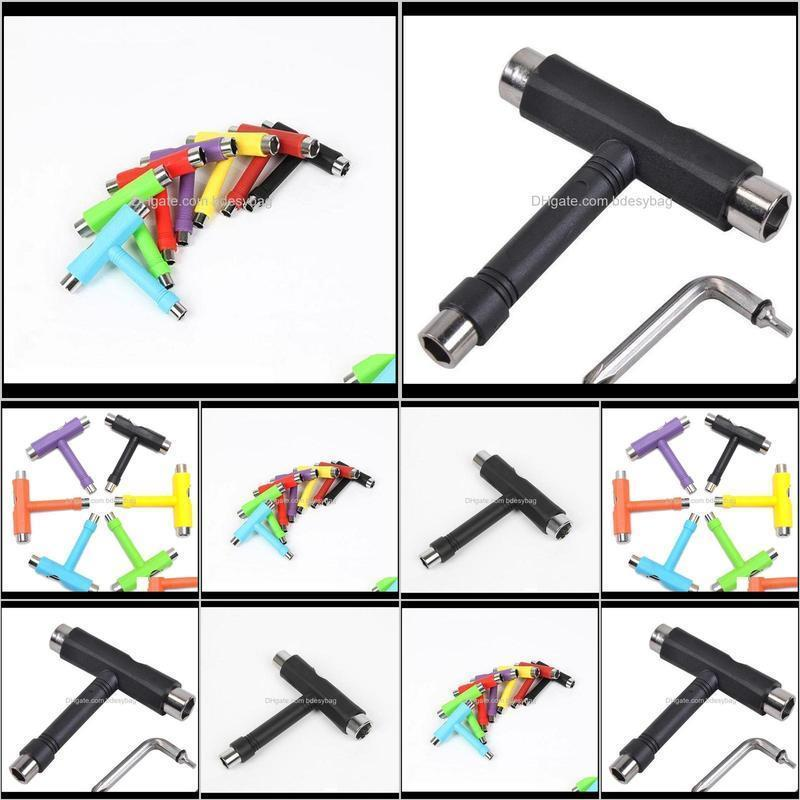 100pcs skate t tool skateboard scooter longboard tools kick scooter mini t wrench spann all-in-one skate tools