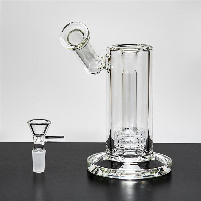 2 pz spessa trasparente acqua di vetro Bongs femminile maschio DAB rig olio bruciatore dritto becher cenere catcher acqua tubi fy2301