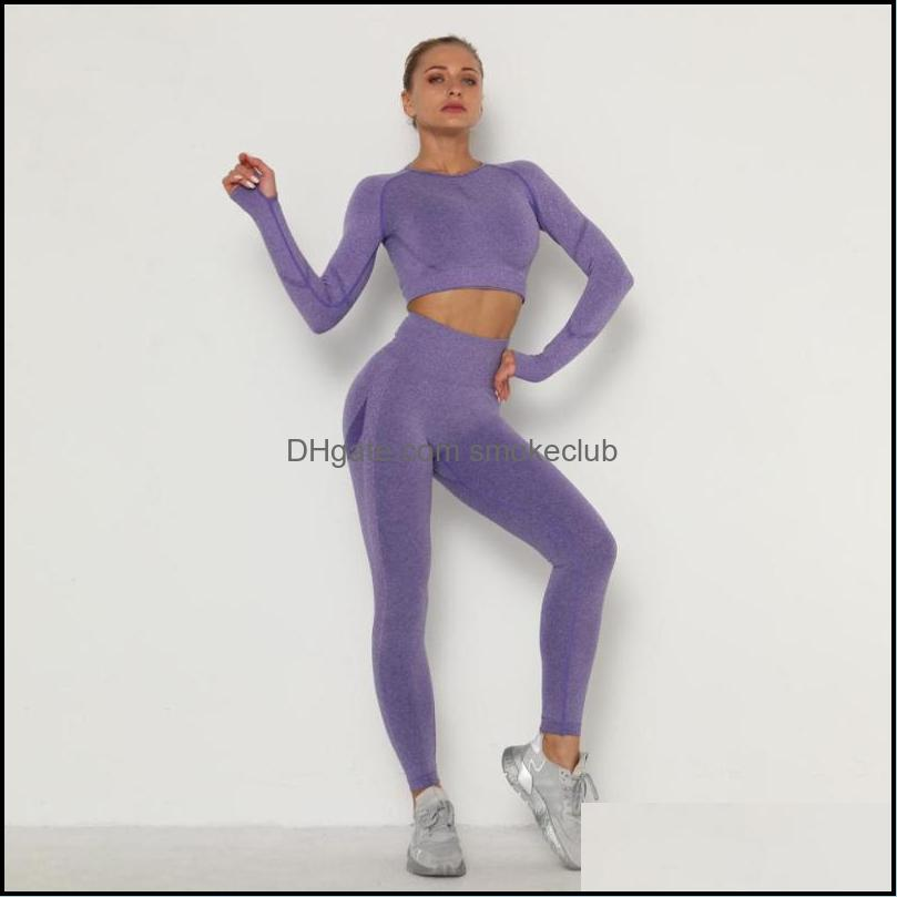 Yoga Outfit Women Clothing Set Sports Suit Sportswear Fitness Athletic Wear Gym Seamless Workout Clothes