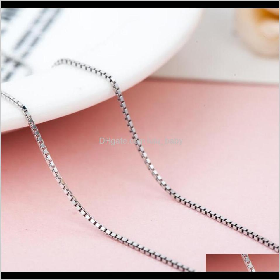 real pure 925 sterling silver chain necklace, auniquestyle women girls ladies box snake rope cross chain necklace jewelry