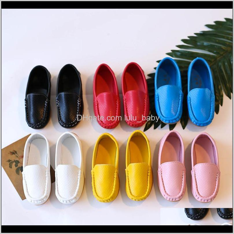 jgvikoto new unisex kids shoes pu leather shoes for toddler big children candy color soft flat loafers boys girls flats sneakers